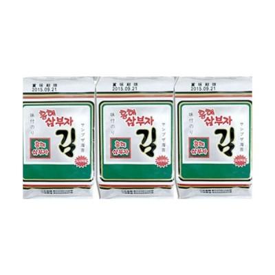 韓国のり ホンヘ サンブジャのり 8切×8枚×3袋/三父子/韓国/海苔/BOX/弁当/サンブサ/三夫子/業務用/箱