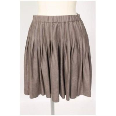 【中古】ダブルスタンダードクロージング ダブスタ DOUBLE STANDARD CLOTHING スウェード調 フレア スカート /ms0530 レディース