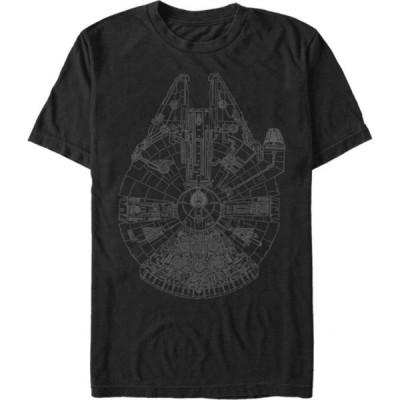 フィフス サン Fifth Sun メンズ Tシャツ トップス Star Wars Millennium Falcon Outline T-Shirt