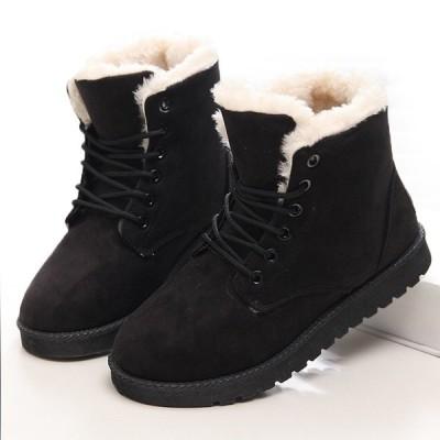 女性 Boots Winter Warm Snow Boots 女性 Faux Suede Ankle Boots For 女性 Winter Shoes