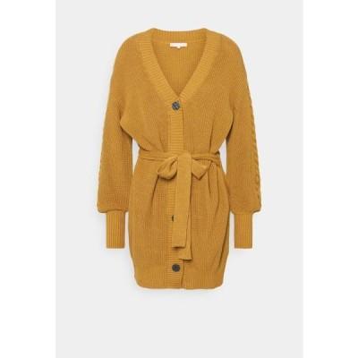 ソフトラベル レディース ファッション TAMMY V-NECK LONG OVERSIZE - Cardigan - dijon