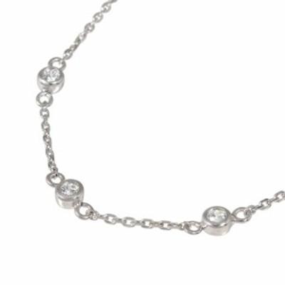 ブレスレット ダイヤモンド プラチナ ブレスレット トリロジー 誕生石 覆輪 フクリン スリーストーン 3石 シンプル レディース