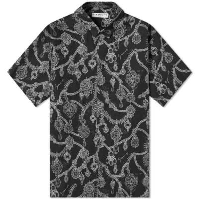 ジバンシー Givenchy メンズ 半袖シャツ トップス Short Sleeve Jewel Studio Homme Shirt Black