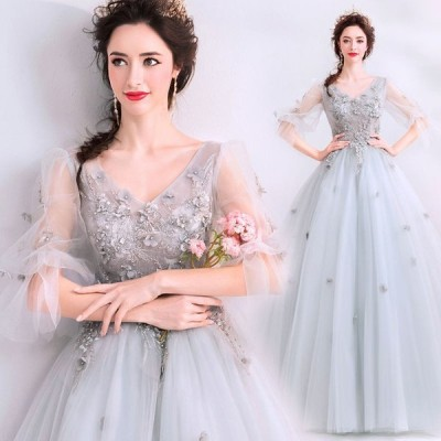 ウエディングドレス レディース ブライダル 花嫁ドレス ロングドレス 写真撮影 披露宴 発表会ドレス 結婚式 プリンセスドレス 演奏会ドレス