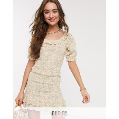 ミスセルフリッジ ミディドレス レディース Miss Selfridge Petite ditsy print poplin dress in ivory エイソス ASOS