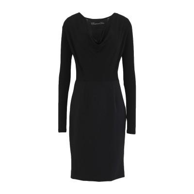 PASSEPARTOUT DRESS by ELISABETTA FRANCHI CELYN b. ミニワンピース&ドレス ブラック 40 レーヨン
