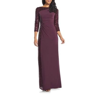 アドリアナ パペル レディース ワンピース トップス Sequin Dress OXBLOOD