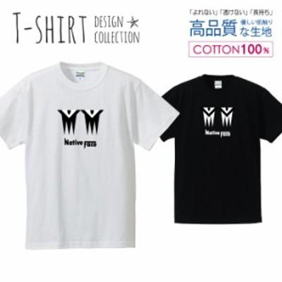 ネイティブ フェイス Tシャツ メンズ サイズ S M L LL XL 半袖 綿 100% よれない 透けない 長持ち プリントtシャツ コットン