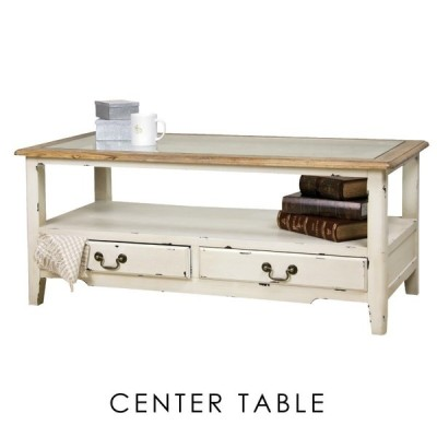 ローテーブル おしゃれ ガラステーブル センターテーブル 木製 幅110cm 収納 引き出し 白 アンティーク 安いおすすめ