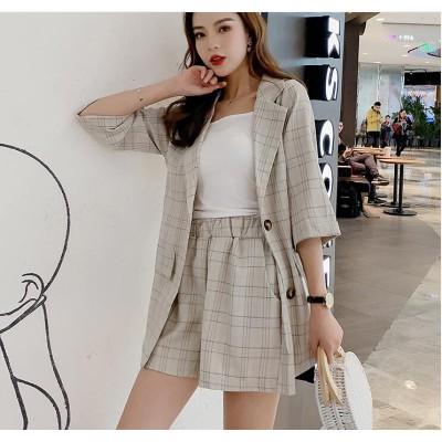 [55555SHOP]大人気高級 2点セット スーツジャケット+ハイウエスト パンツ 綺麗になれる  上品 薄手 レディース 格安 安い 春 夏 秋 女性 OL通勤