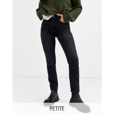 オンリー プティ Only Petite レディース ジーンズ・デニム ボトムス・パンツ mom jeans in black ブラック