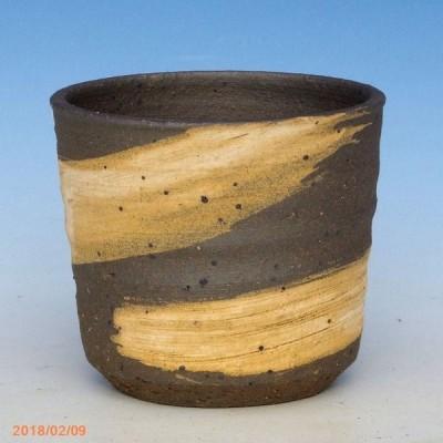 信楽焼 植木鉢 刷毛目切立 2.5号(外径8cm 高さ7cm)