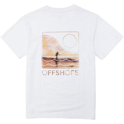 OFFSHORE/オフショア OFFSHORE U-SKE PHOTO TEE WHITE Tシャツ クルーネック 半袖
