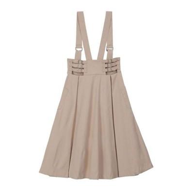 【honey salon(ハニーサロン)】ハイウエストサロペスカート(SA91L0L0300)