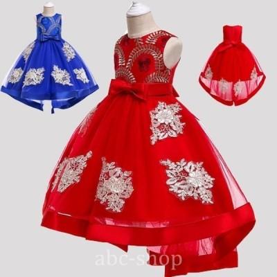 七五三発表会ドレス子供ドレス結婚式ワンピース子供ドレスウエストビジュードレス発表会子どもドレス花童チュールスカートドレス子供ド安い