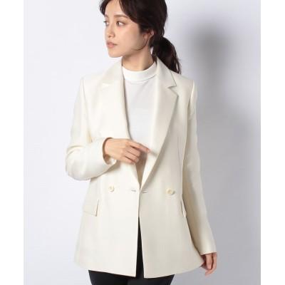 (ANAYI/アナイ)ウールシルクテーラードジャケット/レディース オフホワイト
