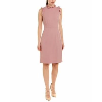 Rebecca Taylor レベッカテイラー ファッション ドレス Rebecca Taylor Spring Ruffle Wool-Blend Sheath Dress 10