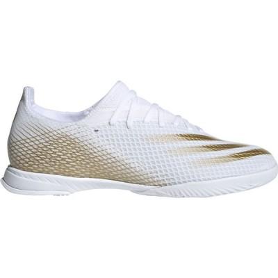 アディダス adidas メンズ サッカー シューズ・靴 X Ghosted.3 Indoor Soccer Shoes White/Gold