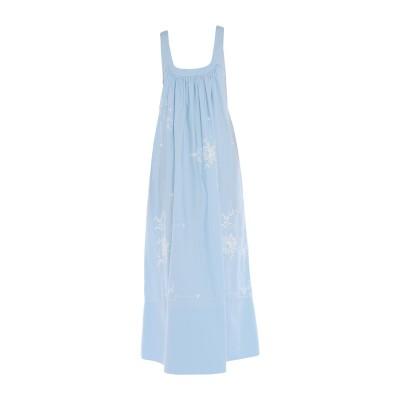 ステラ マッカートニー STELLA McCARTNEY ロングワンピース&ドレス スカイブルー 42 コットン 100% ロングワンピース&ドレス