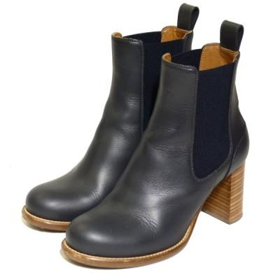 Chloe チャンキーヒールブーツ ブラック サイズ:37(24.0cm) (神戸三宮センター街店) 210227