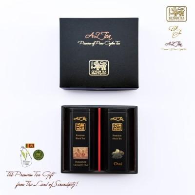 マリオット銀座愛用  黒缶 2缶入りギフト 18 Chai チャイ Premium Ceylon Tea プレミアムセイロン紅茶 茶葉 スリランカ農園直 AZ Tea