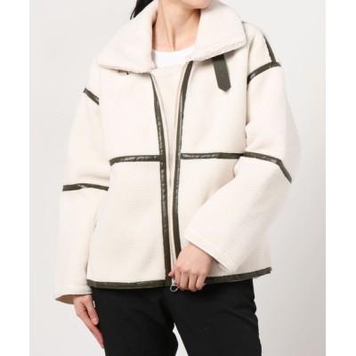 ZealMarket/SFW / トレンド レディース アウター ハイネック ボアコート もこもこ 軽い 暖かい 防寒 ブルゾン WOMEN ジャケット/アウター > ダウンジャケット/コート