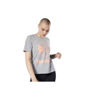 リーボック Reebokクラシックス ビッグ ロゴ グラフィック Tシャツ / Classics Big Logo Graphic Tee (グレー)