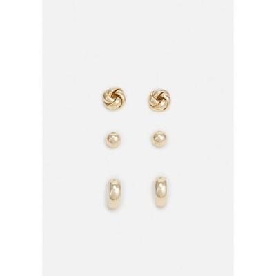 ラルフローレン ピアス&イヤリング レディース アクセサリー KNOT TRIO 3 PACK - Earrings - gold-coloured