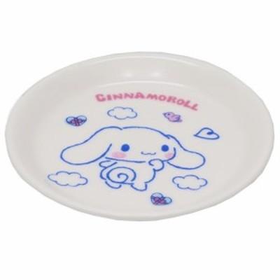 シナモロール 小皿 10.5cm ミニプレート ふわくも サンリオ 日本製 キャラクター グッズ