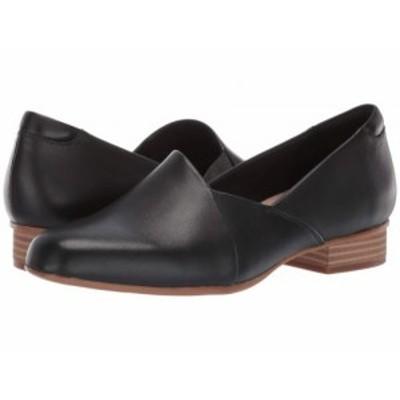 Clarks クラークス レディース 女性用 シューズ 靴 ローファー ボートシューズ Juliet Palm Black Leather【送料無料】