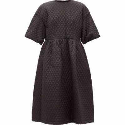 ノワール ケイ ニノミヤ Noir Kei Ninomiya レディース ワンピース ミドル丈 ワンピース・ドレス Puff-sleeve matelasse midi dress Blac
