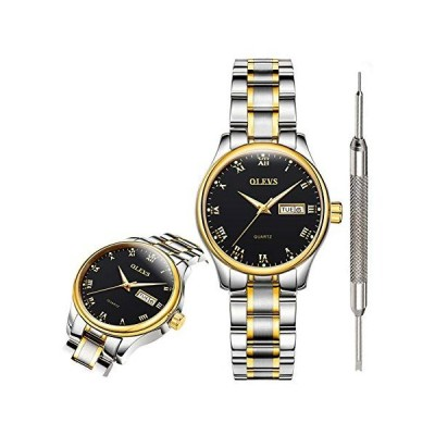 OLEVS Black Fashion Watches for Women Waterproof Inexpensive Analog Quartz Wrist Watches for Women Stainless Steel Calendar Day Date Watch 2020 Valent