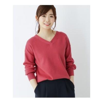 シューラルー SHOO-LA-RUE 【M-L】2wayニットプルオーバー (ピンク)