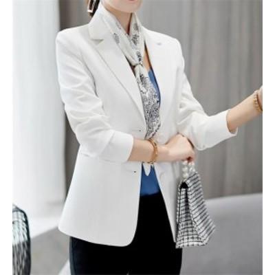 レディース テーラードジャケット ショート丈 コート フォーマル アウター トップス 長袖 オフィス 通勤 OL ビジネス