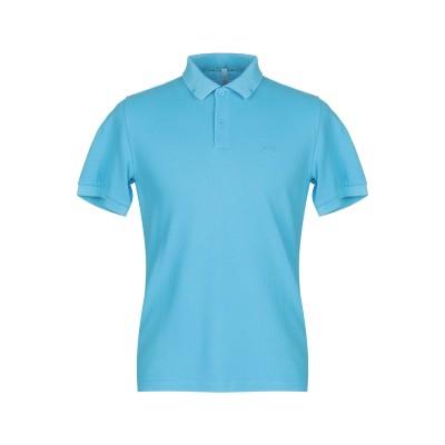 サンシックスティエイト SUN 68 ポロシャツ アジュールブルー S コットン 100% ポロシャツ