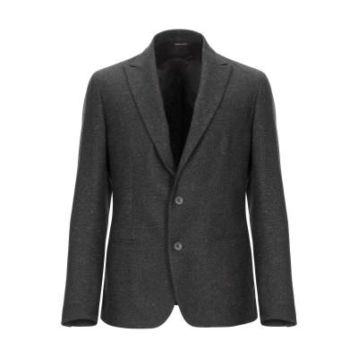 LUCA BERTELLI テーラードジャケット ダークブラウン 48 ウール 55% / ポリエステル 35% / シルク 6% / ナイロン 3
