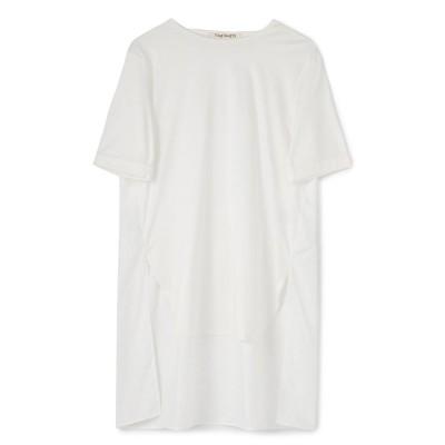 ヴァンヌフ Vingt Neuf 29 後ろティアードフェミニンバックロングTシャツ (ホワイト)