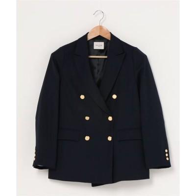 ジャケット テーラードジャケット Demi-Luxe BEAMS / ドライギャバジン ダブルジャケット