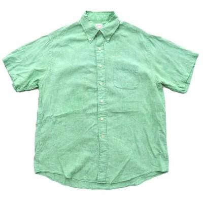 Brooks Brothers ブルックスブラザーズ ボタンダウンシャツ リネン 半袖 サイズ表記:L