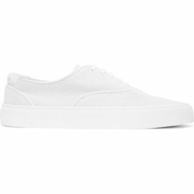 イヴ サンローラン Saint Laurent メンズ スニーカー シューズ・靴 White Perforated Venice Sneakers White
