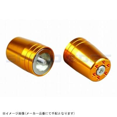 [031579-04] POSH(ポッシュ) ウルトラヘビーバーエンドカワサキ純正ハンドル M8用 ゴールド