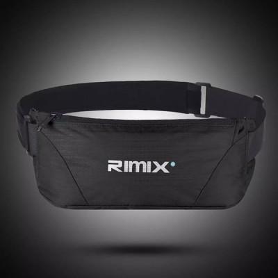 Rimix 防水ランニングベルトウエストポケット調節可能 マラソンウエストバッグ収納ポーチランニングサイクリングフィットネス