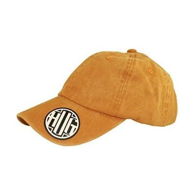 Premium Plain Cotton Cap Vintage Style Heavy Washed Dad Hat 100% Cotton Adjustable PU Leather Back Strap Men Women Unisex (Mustard)