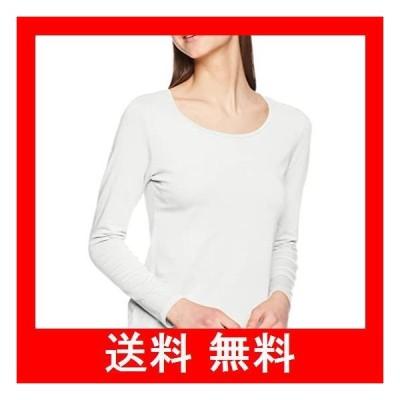 [セシール] インナーシャツ スマートヒート クルーネック 長袖 発熱するコットン ぬく綿 UP-631 レディース