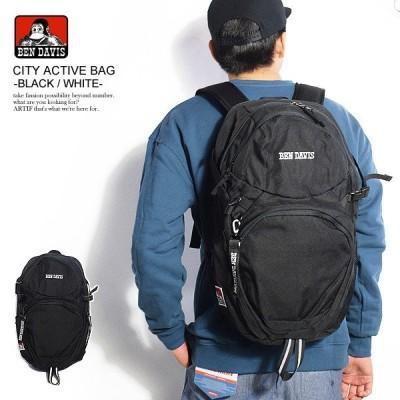 ベンデイビス バックパック BEN DAVIS CITY ACTIVE BAG -BLACK/WHITE-