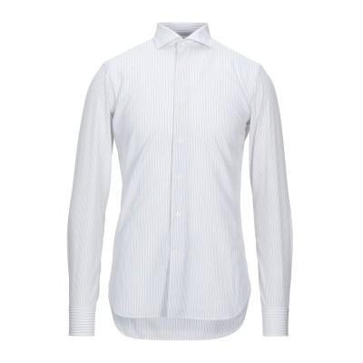 GRIGIO シャツ ライトグレー 38 コットン 100% シャツ