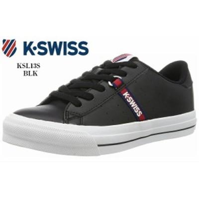 (ケースイス)KSL13 S K-SWISS カジュアルコートスニーカー シンセティックレザーのアッパーにワンポイントのロゴテープを配置 メンズ レ