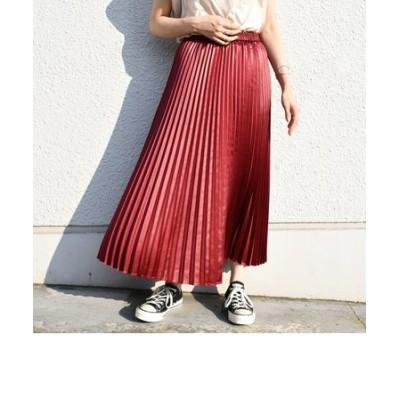 カレンダリングプリーツスカート◇