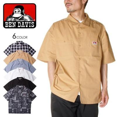 BEN DAVIS ベンデイビス シャツ メンズ 半袖 半袖シャツ ワークシャツ S/S WORK SHIRTS G-1580026