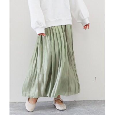 【アルシーヴ】 シャイニーギャザースカート レディース ミントグリーン M archives